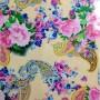 flower pattern Fabric Foil Print for dress
